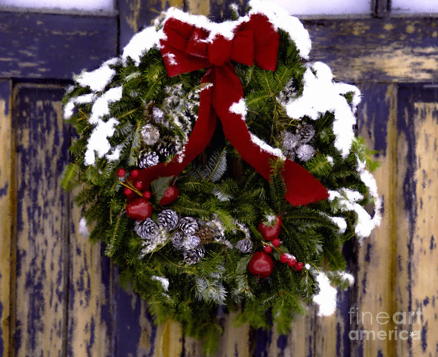 Painted Wreath Photograph