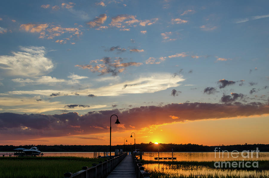 Palmetto Sunrise - Wando River Photograph