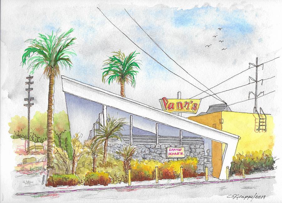 Panns Coffee Shop In La Cienega Blvd., Inglewood, California Painting