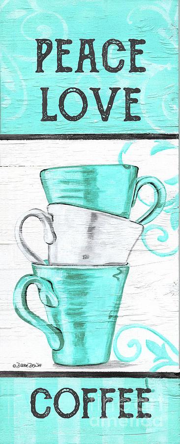 Peace, Love Coffee Painting
