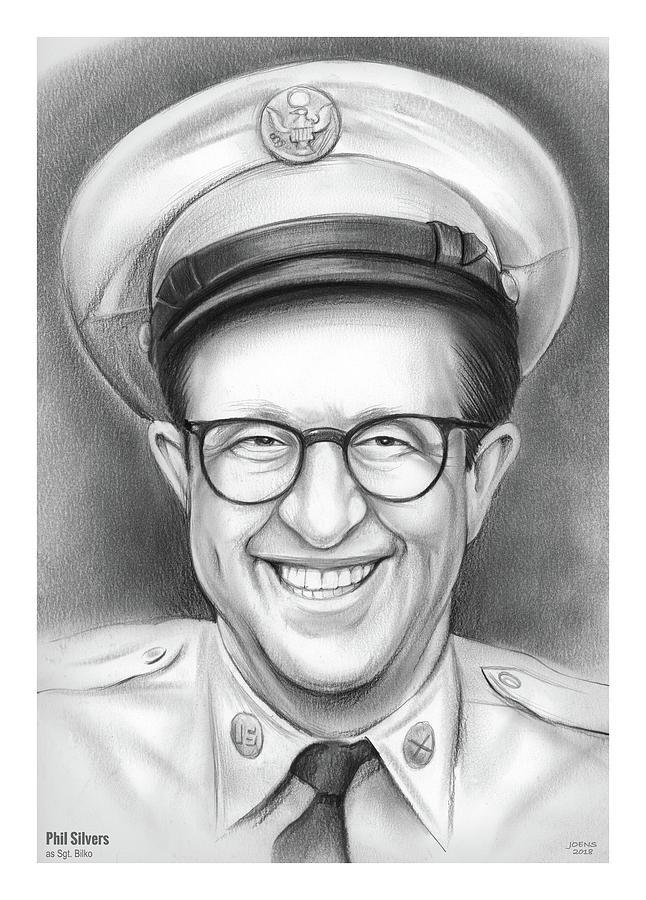 Phil Silvers As Sgt Bilko Drawing