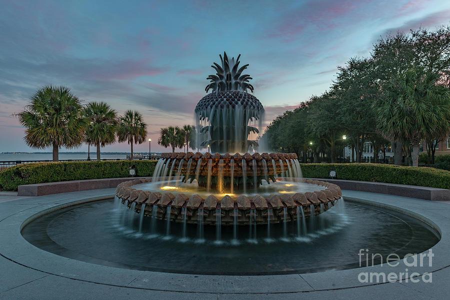 Pineapple Fountain - Sunset Suprise Photograph
