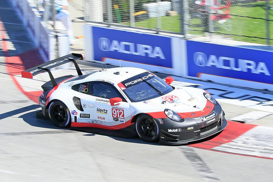 Porsche Speeding In Long Beach Photograph