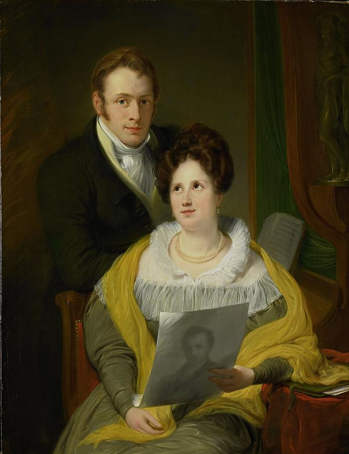 Portrait Of A Woman And A Man Painting