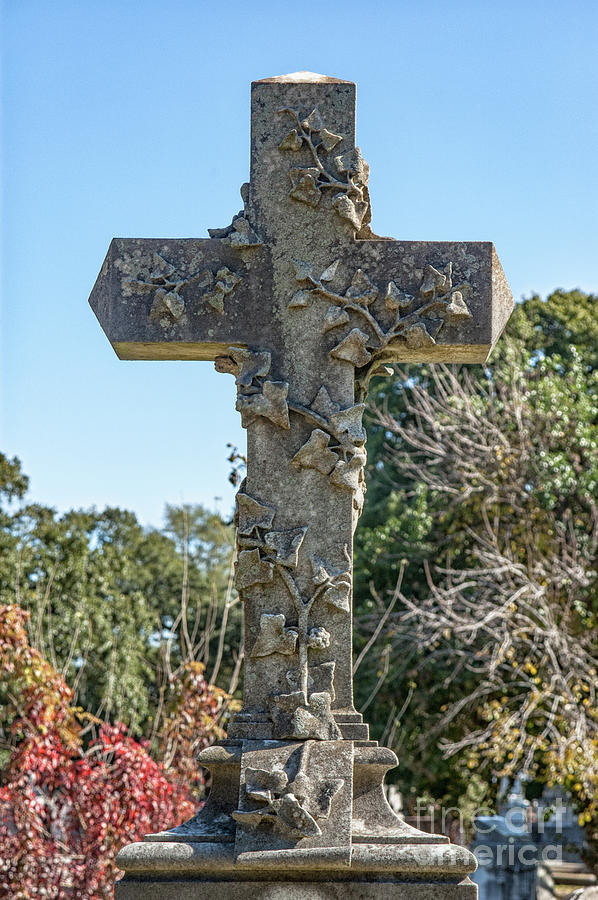Power Of The Cross - Magnolia Cemetery Photograph