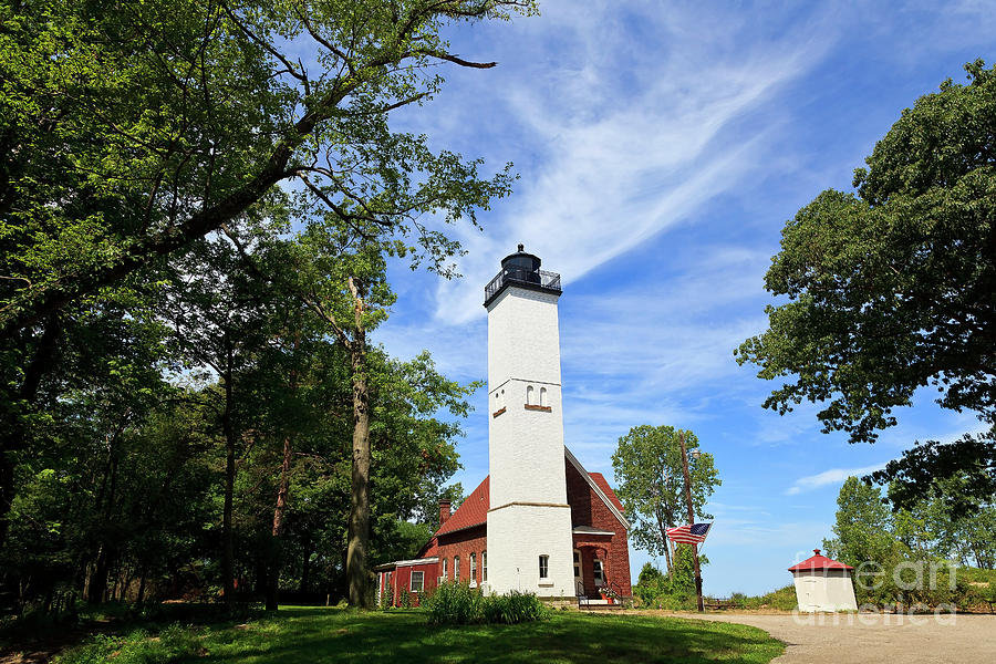 Presque Isle Light In The State Park Photograph