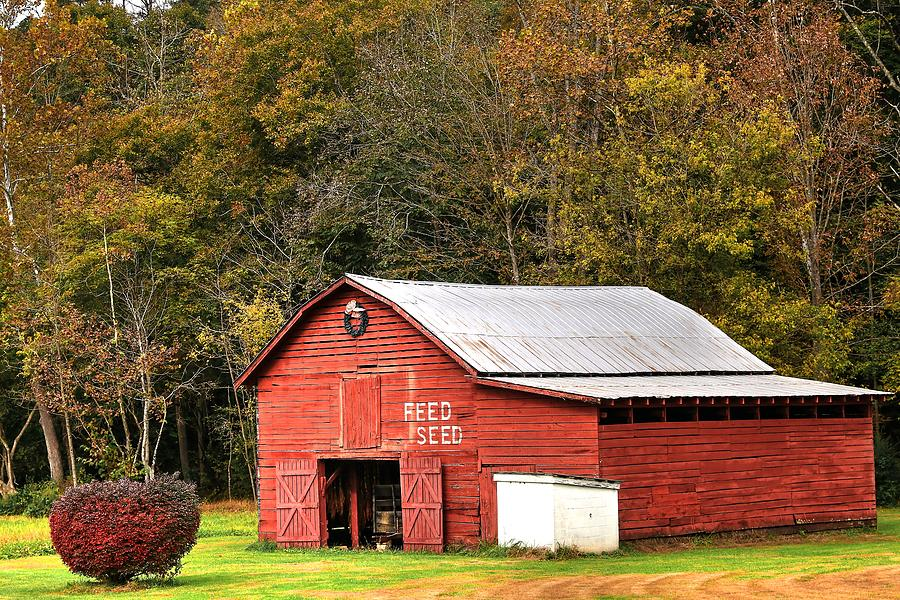 Red Barn Feed And Seed Photograph