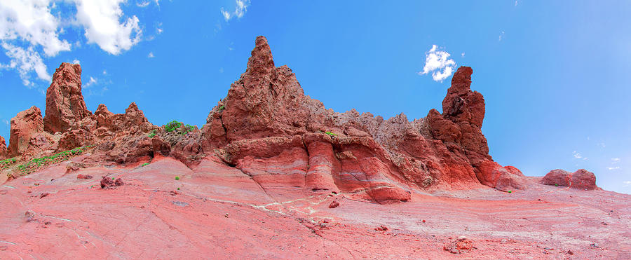 Red Volcanic Cliffs In The Teide National Park Photograph