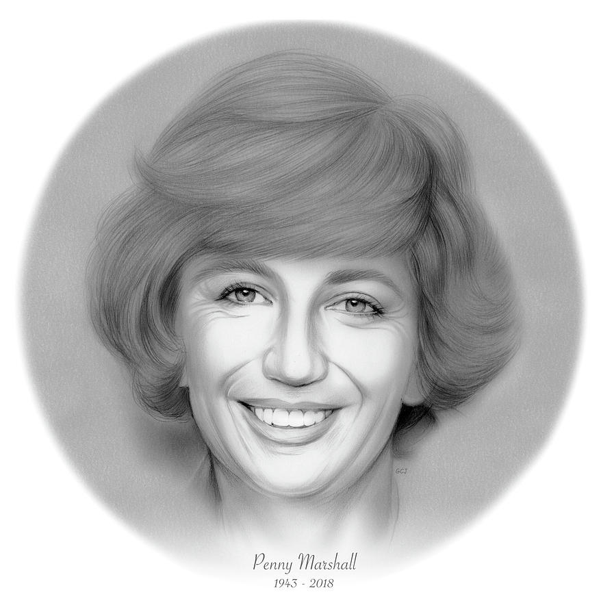 Rip Penny Marshall Drawing