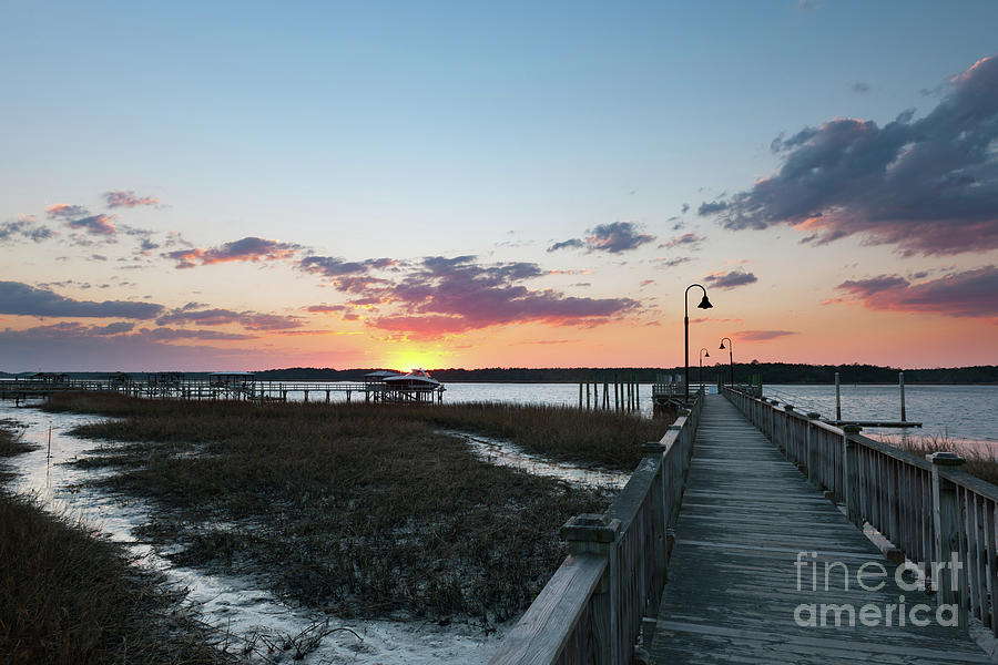 River Sunset - Rivertowne On The Wando Photograph