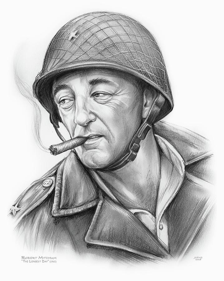 Robert Mitchum 2 Drawing