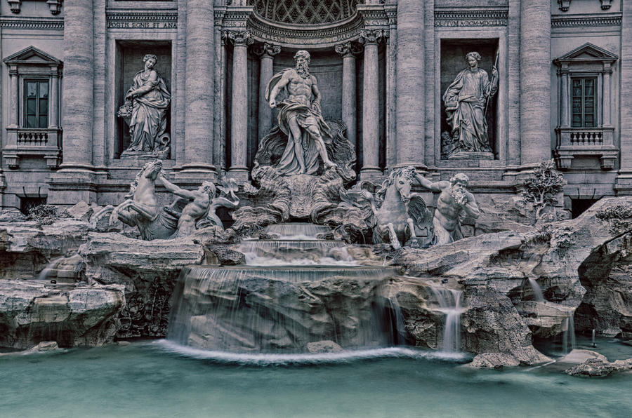 Rome Trevi Fountain Photograph