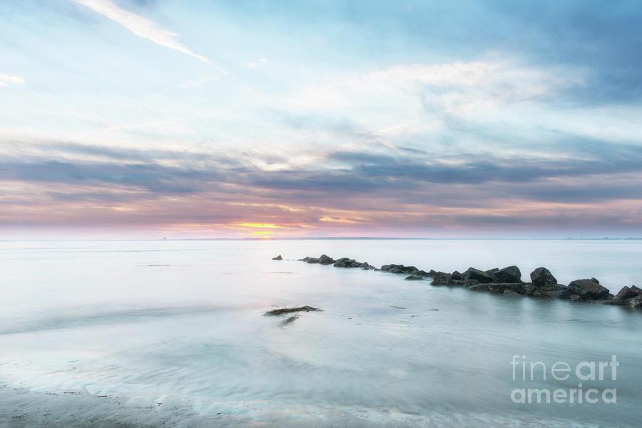 Salty Beach Sunset Photograph