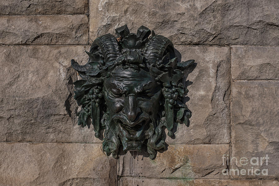 Satyr Fountain - Biltmore Estate In Asheville Nc Photograph