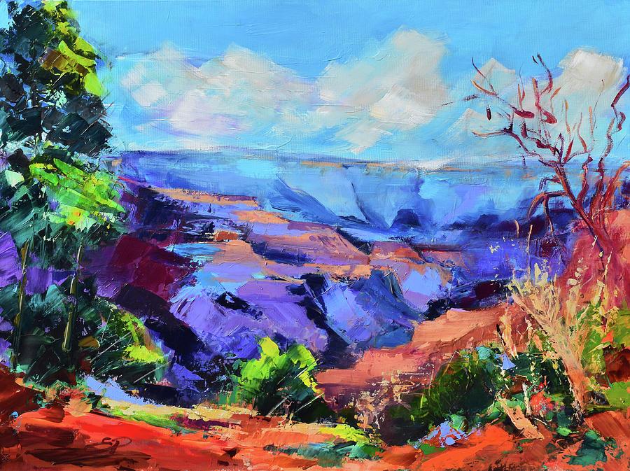Serene Morning By The Canyon - Arizona Painting