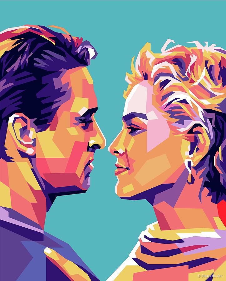 Sharon Stone And Michael Douglas Digital Art