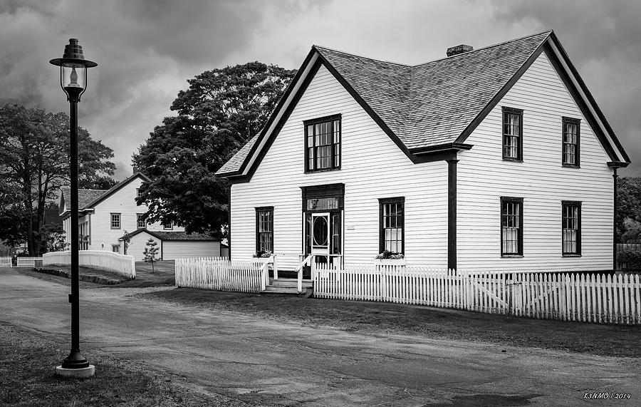 Sherbrooke Village In Black And White Digital Art