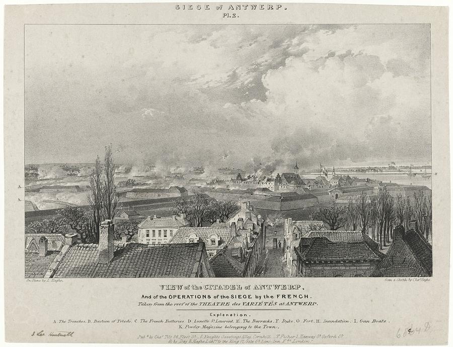 Siege Of The Citadel Of Antwerp Painting