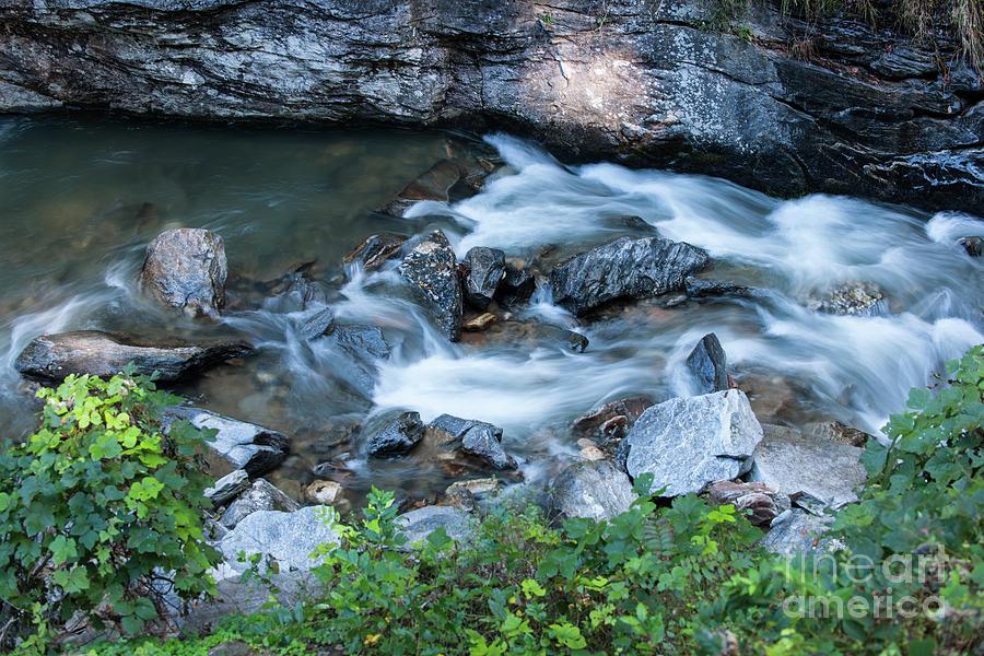 Silky Mountain Water Stream In North Carolina Photograph