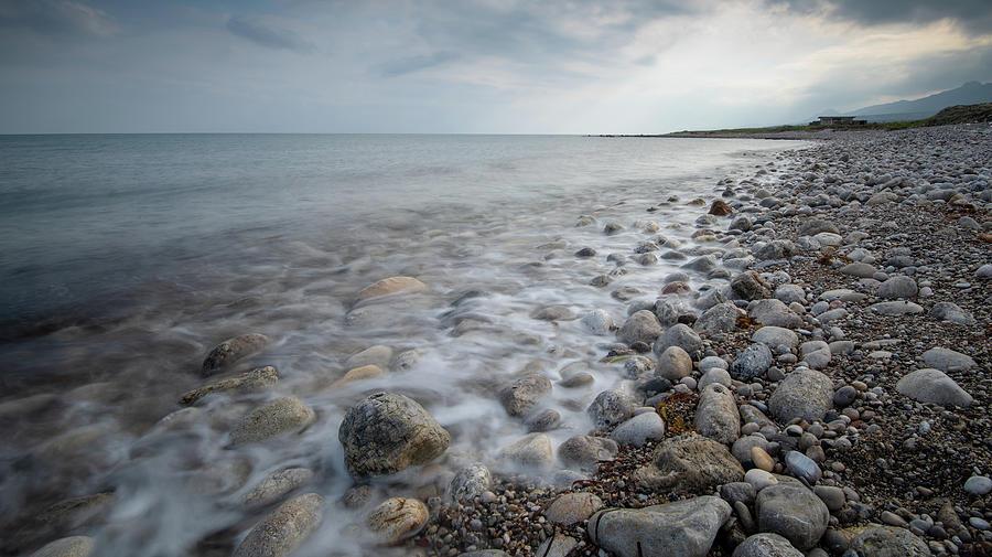 Sky And Beautiful Wavy Ocean Photograph