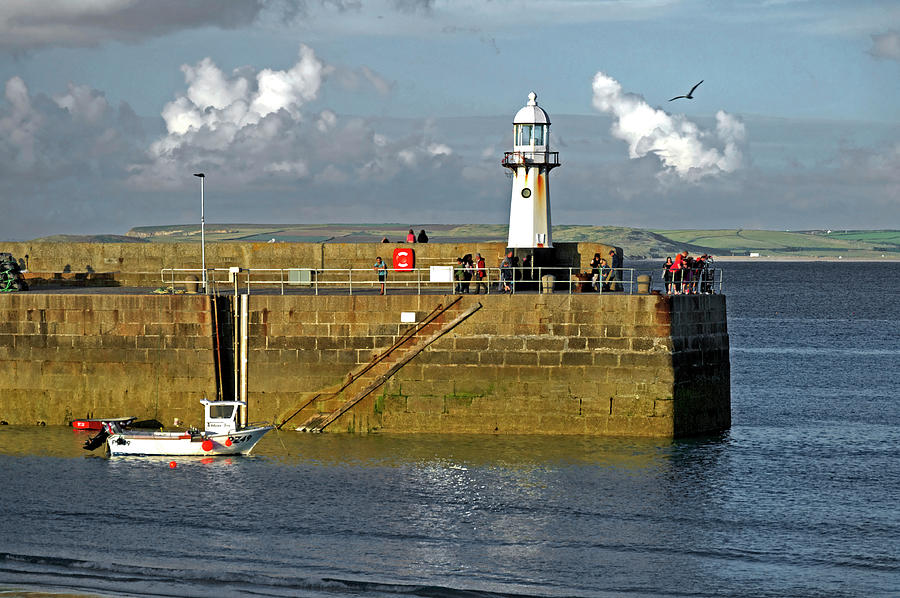 Smeatons Pier And Lighthouse - St Ives Photograph