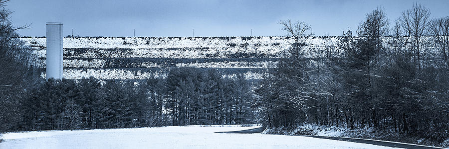 Snow At South Holston Dam Photograph