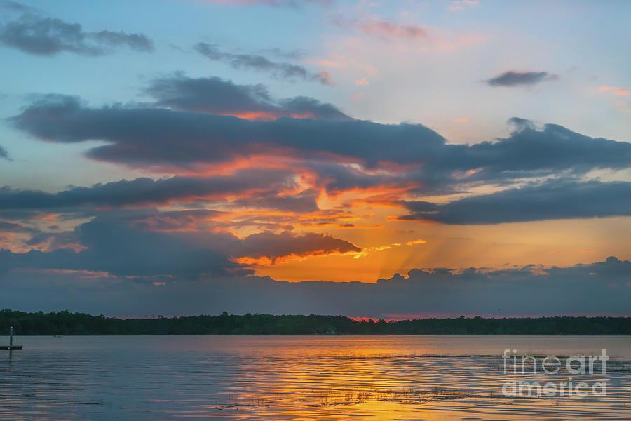 Southern Exposure - Wando River Sunset Photograph