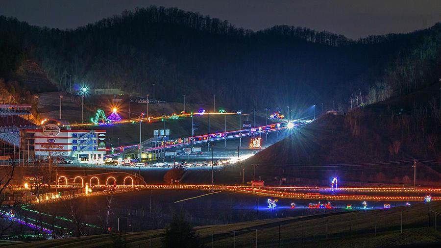 Speedway In Lights At Bristol Motor Speedway 2013 Photograph