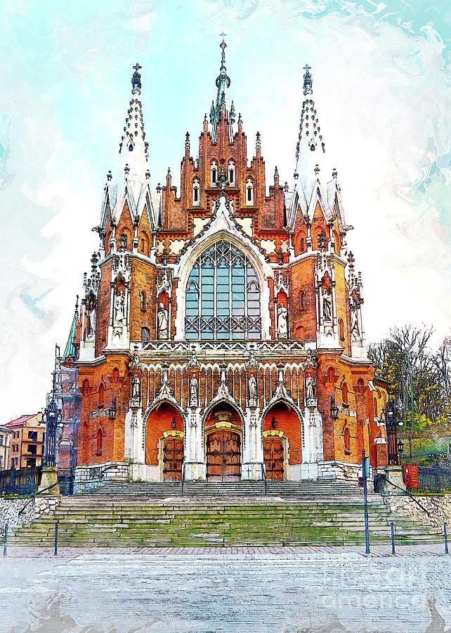 St. Josephs Church Krakow Digital Art