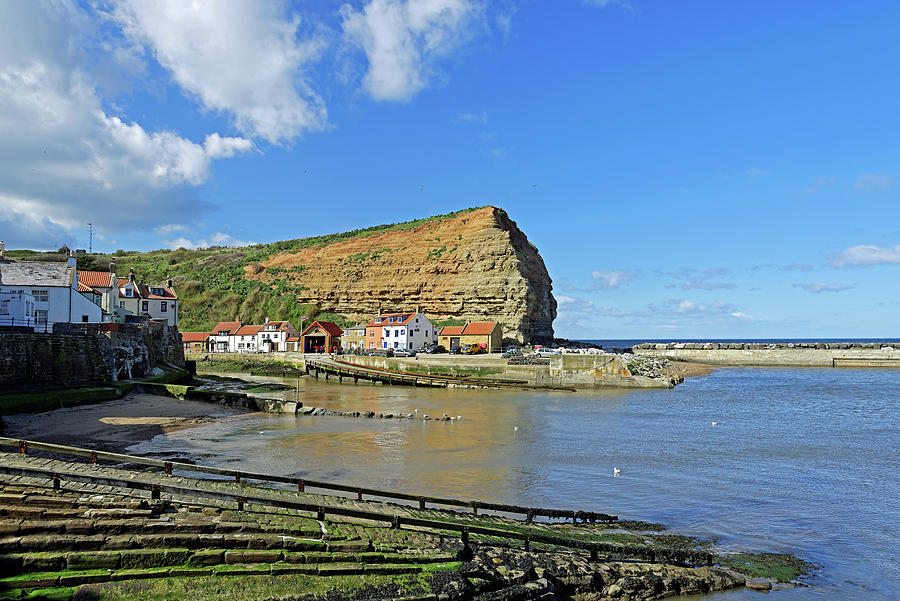 Staithes Harbour And Cowbar Nab Photograph