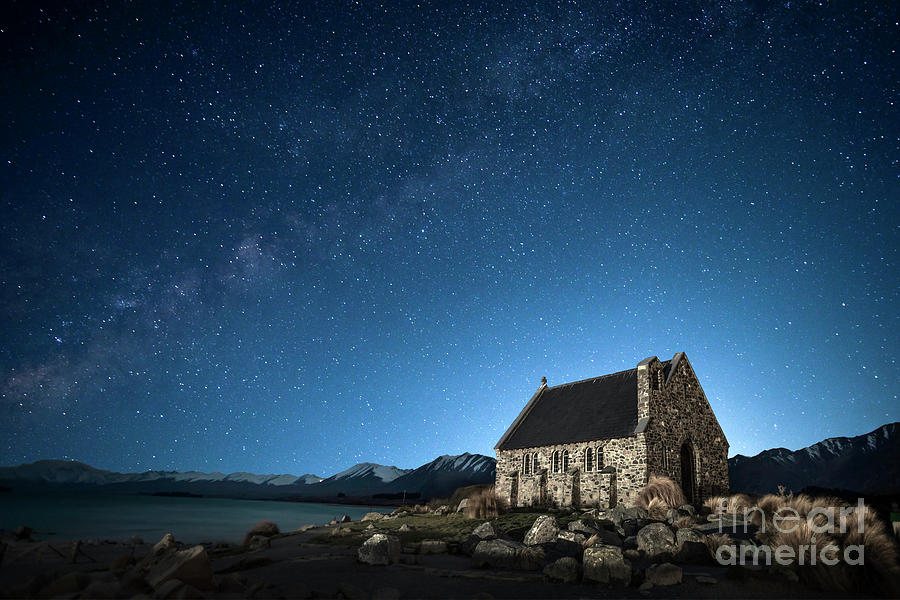 Stars And Midnight Blue Photograph