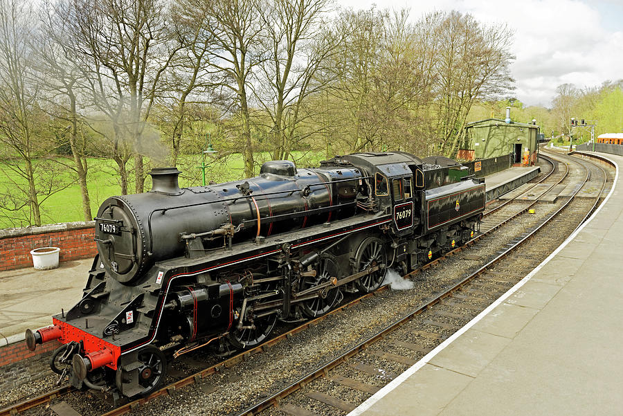 Steam Loco 76079 At Pickering Station Photograph