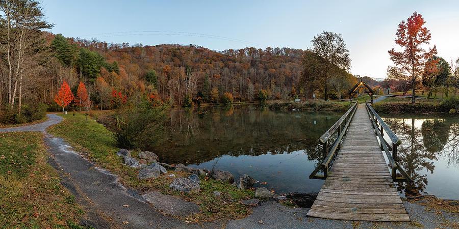 Steele Creek Bridge Fall Sunset Photograph