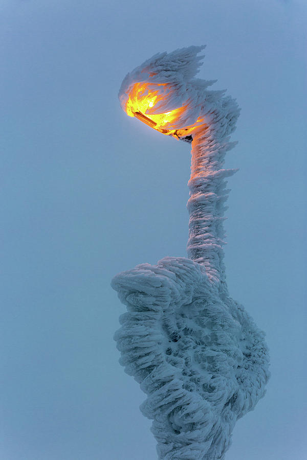 streetlight on the Brocken, Harz Photograph