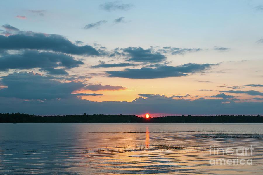 Sun Setting Over The Wando River In Charleston County Photograph