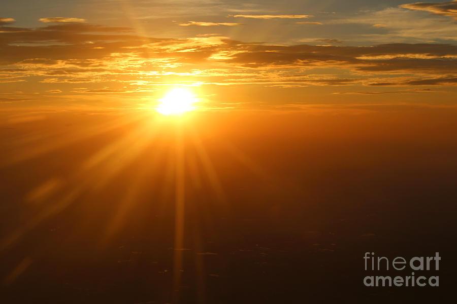 Sunset On A Plane Photograph
