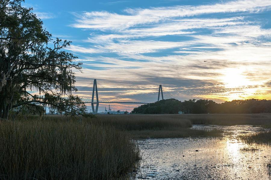 Sunset Over The Salt Marsh Photograph