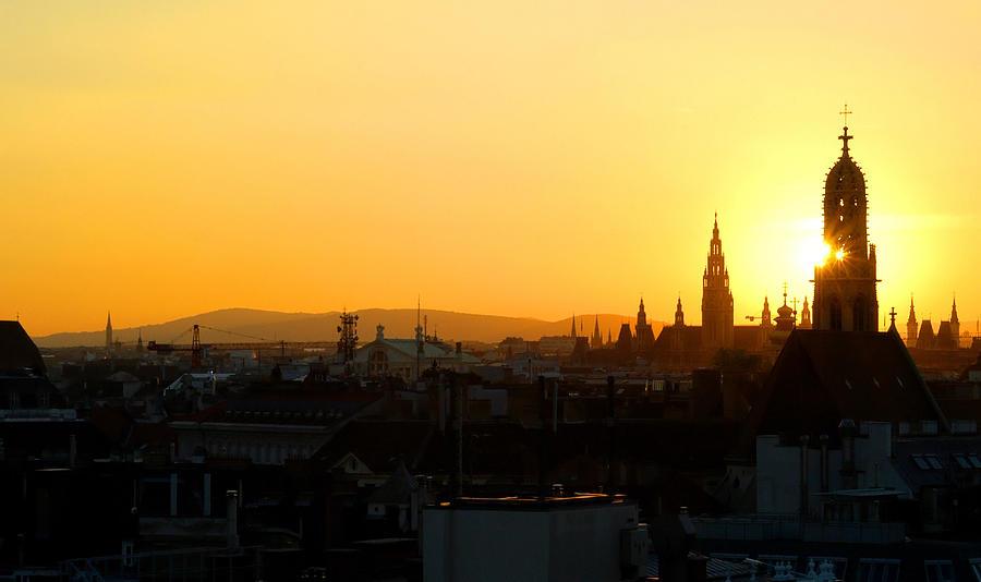 Sunset Over Vienna Photograph