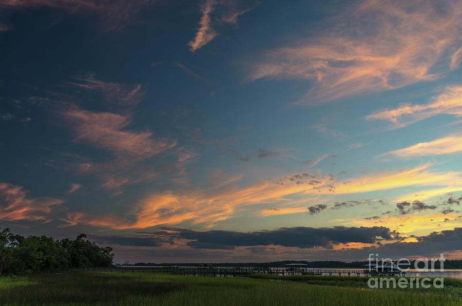 Sunset - Wando River In Charleston Sc Photograph