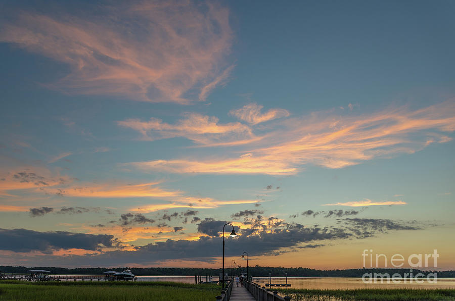 Sunset - Wando River In Mount Pleasant South Carolina Photograph