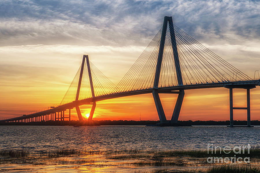 Sunset Warm Glow Over Charleston Photograph