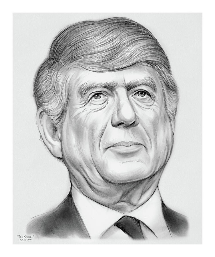 Ted Koppel Drawing