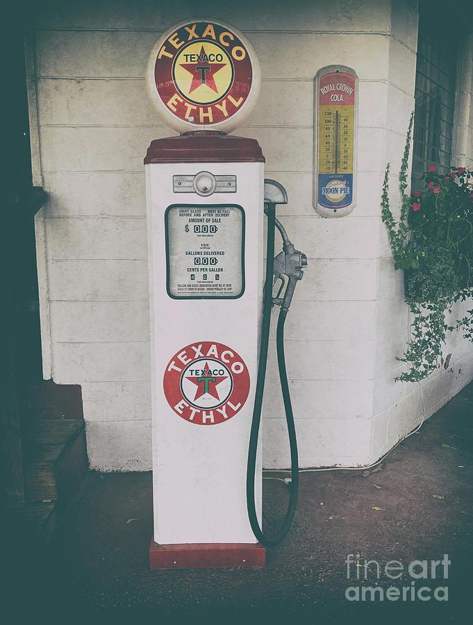Texaco - Ethyl Gas Pump Photograph