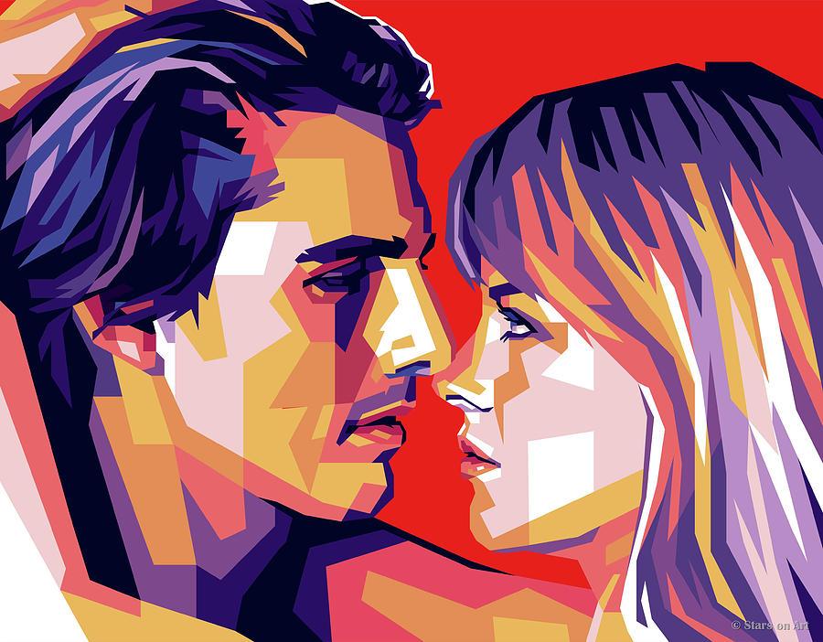 Tom Cruise And Nicole Kidman Digital Art