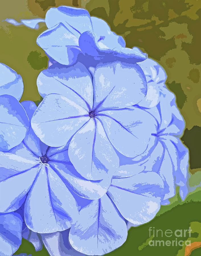 True Blue Blossom Abstract 300 Painting