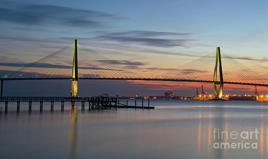 Twilight Over The Lowcountry - Ravenel Bridge Photograph