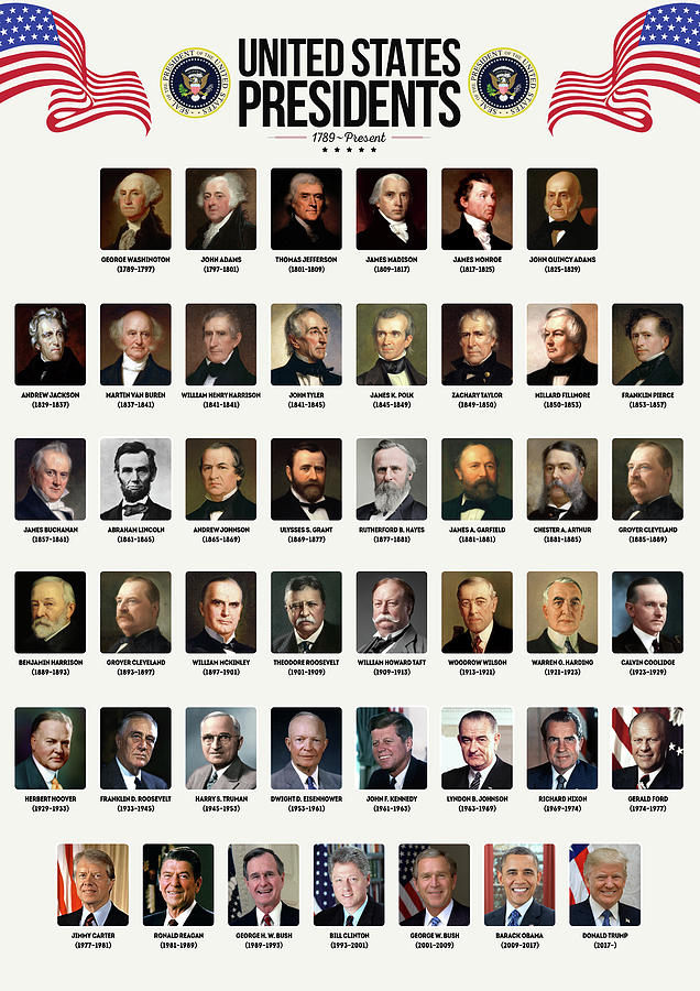 United States Presidents Digital Art