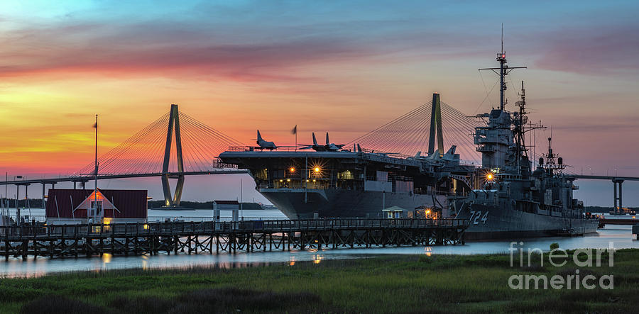 Uss Yorktown Cv-10 In Charleston South Carolina Photograph