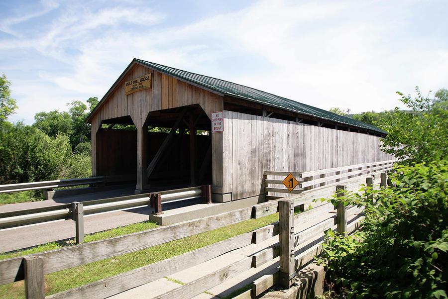 Vermont Covered Bridge Photograph