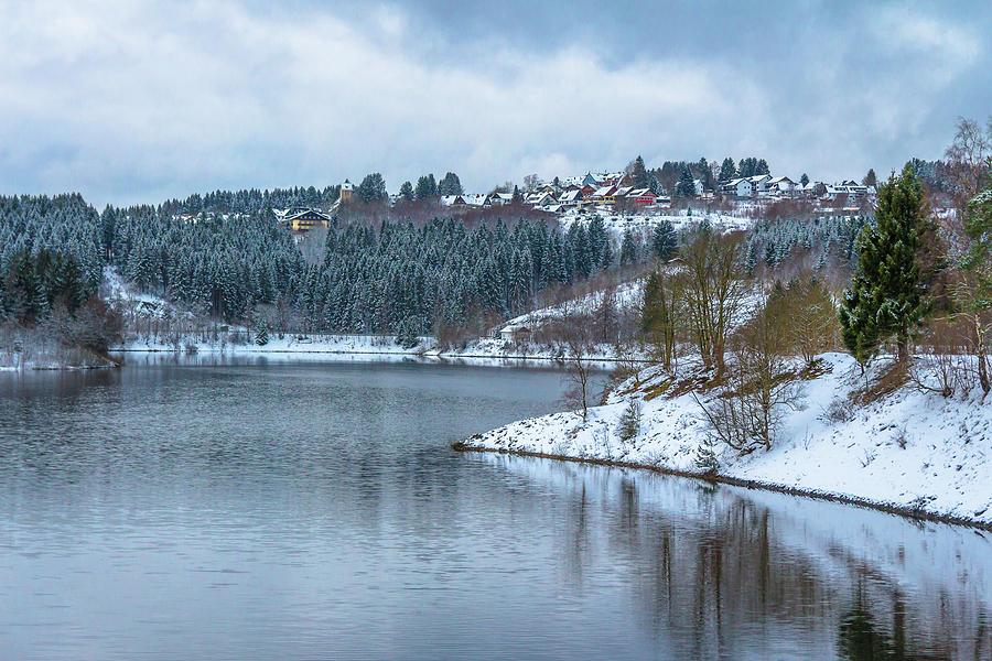 Village Schulenberg Oberharz In Front The Lake Okerseestaubecken Photograph